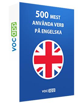 500 mest använda verb på engelska