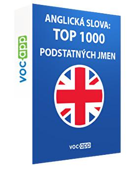 Anglická slova: 1000 nejdůležitějších podstatných jmen