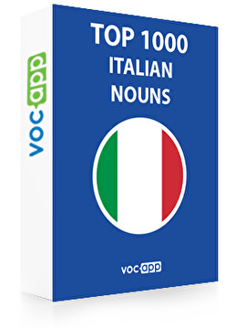 Italian Words: Top 1000 Nouns
