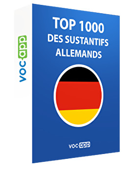 Top 1000 des substantifs allemands
