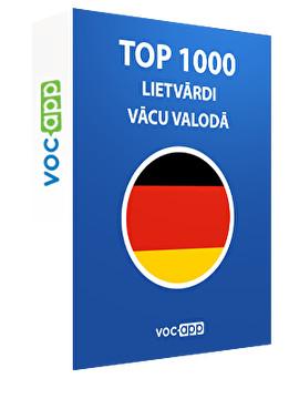 Top 1000 lietvārdi vācu valodā