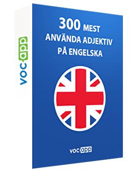 300 mest använda adjektiv på engelska