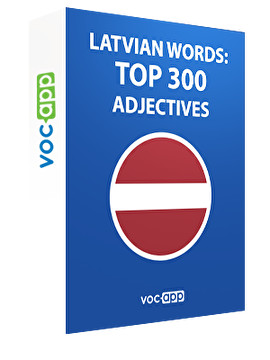 Latvian words: Top 300 Adjectives
