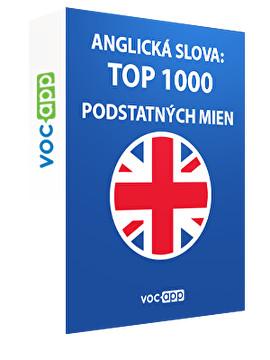 Anglické slová: 1000 najdôležitejších podstatných mien