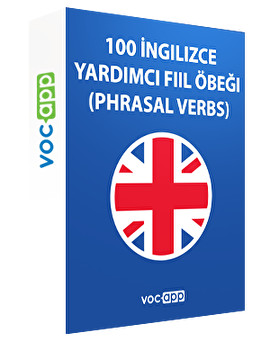100 İngilizce yardımcı fiil öbeği (phrasal verbs)