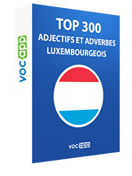 Top 300 adjectifs et adverbes luxembourgeois