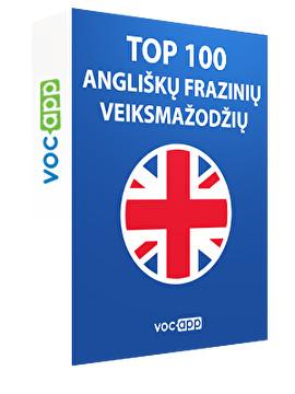 Top 100 angliškų frazinių veiksmažodžių