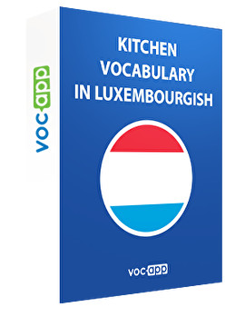 Kitchen vocabulary in Luxembourgish