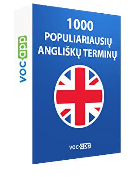 1000 populiariausių angliškų terminų