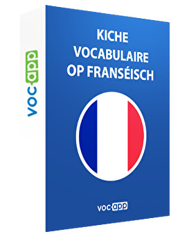 Kiche Vocabulaire op Franséisch