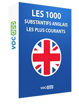 Les 1000 substantifs les plus courants en anglais